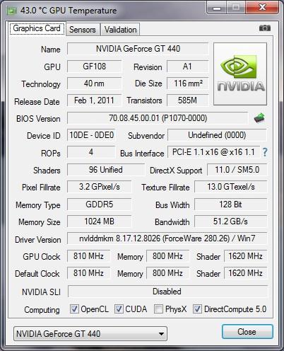 VGA PixelView GT 440 1Gb 128Bit DDR5 @Bogor