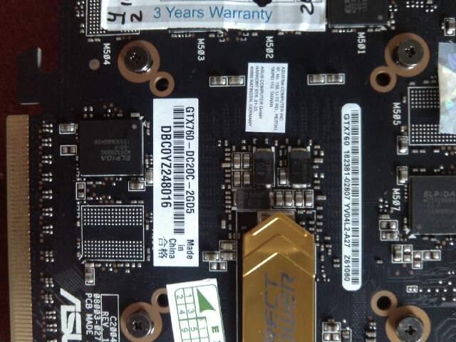 WTS ASUS GTX 760