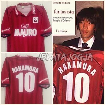 Jersey Reggina Calcio Shunsuke Nakamura (RARE)