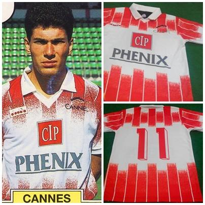 Jersey Zidane Cannes 1992 (awal karir RARE!)