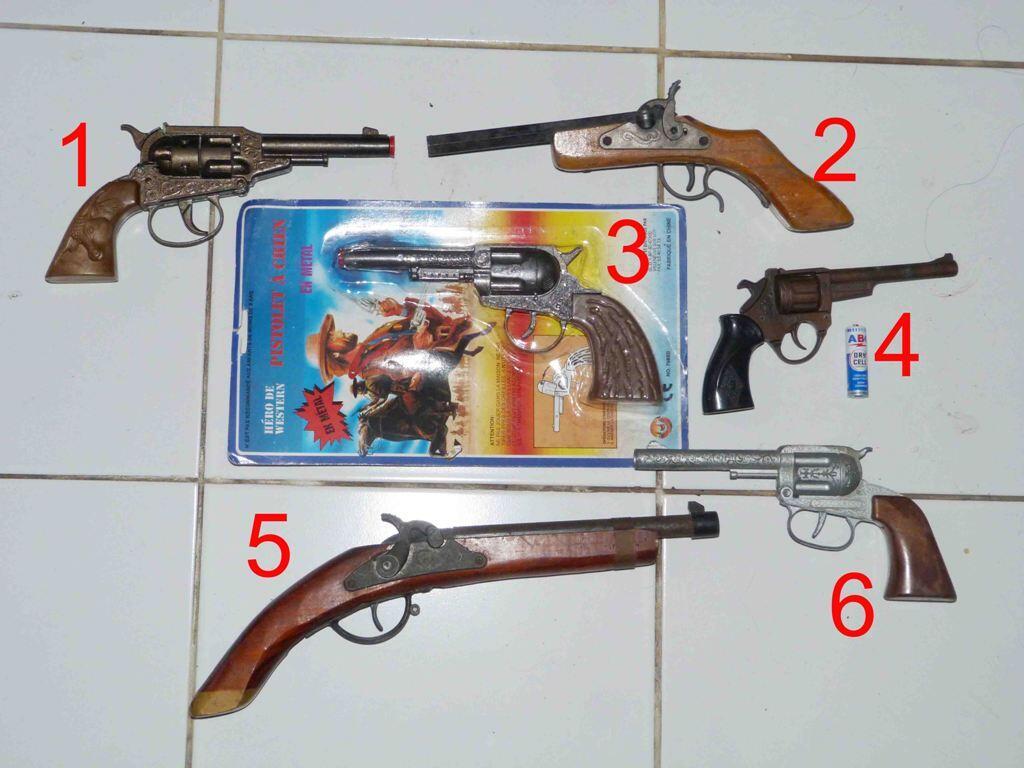 MAINAN PISTOL DOBLIS DOMPIS METAL CAP GUN JADUL KUNO ANTIK