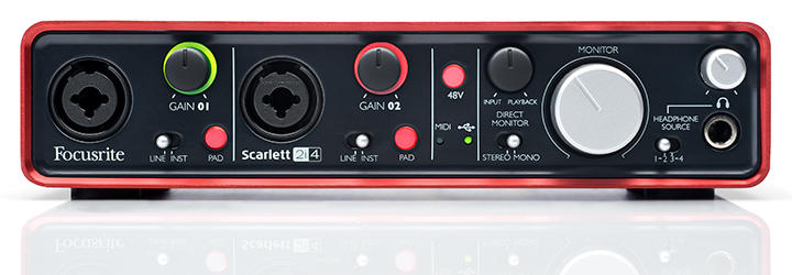 USB Sound Card & Recording Focusrite Scarlett 2i4