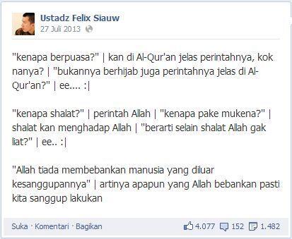 [Renungan] Komiknya Ustadz Felix Siauw