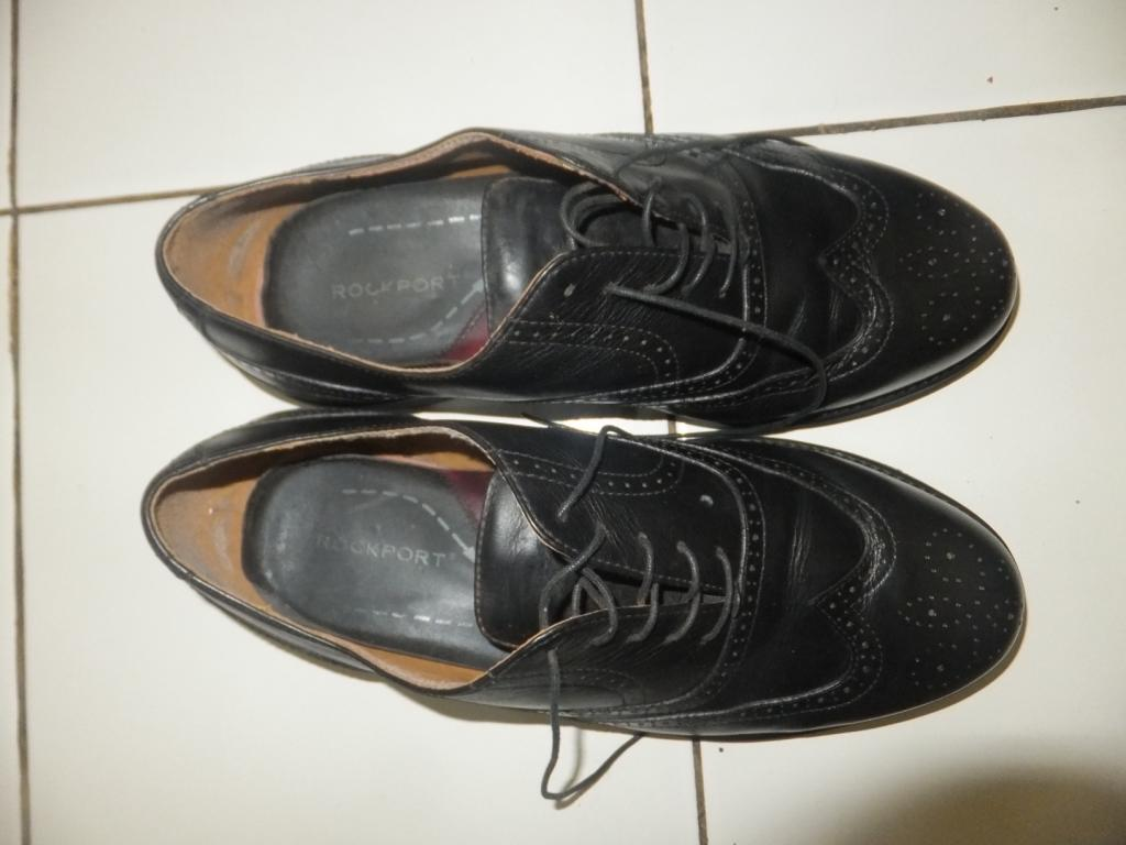jual sepatu pantofel kulit rockport black hitam size 44 formal, casual, kerja bisa