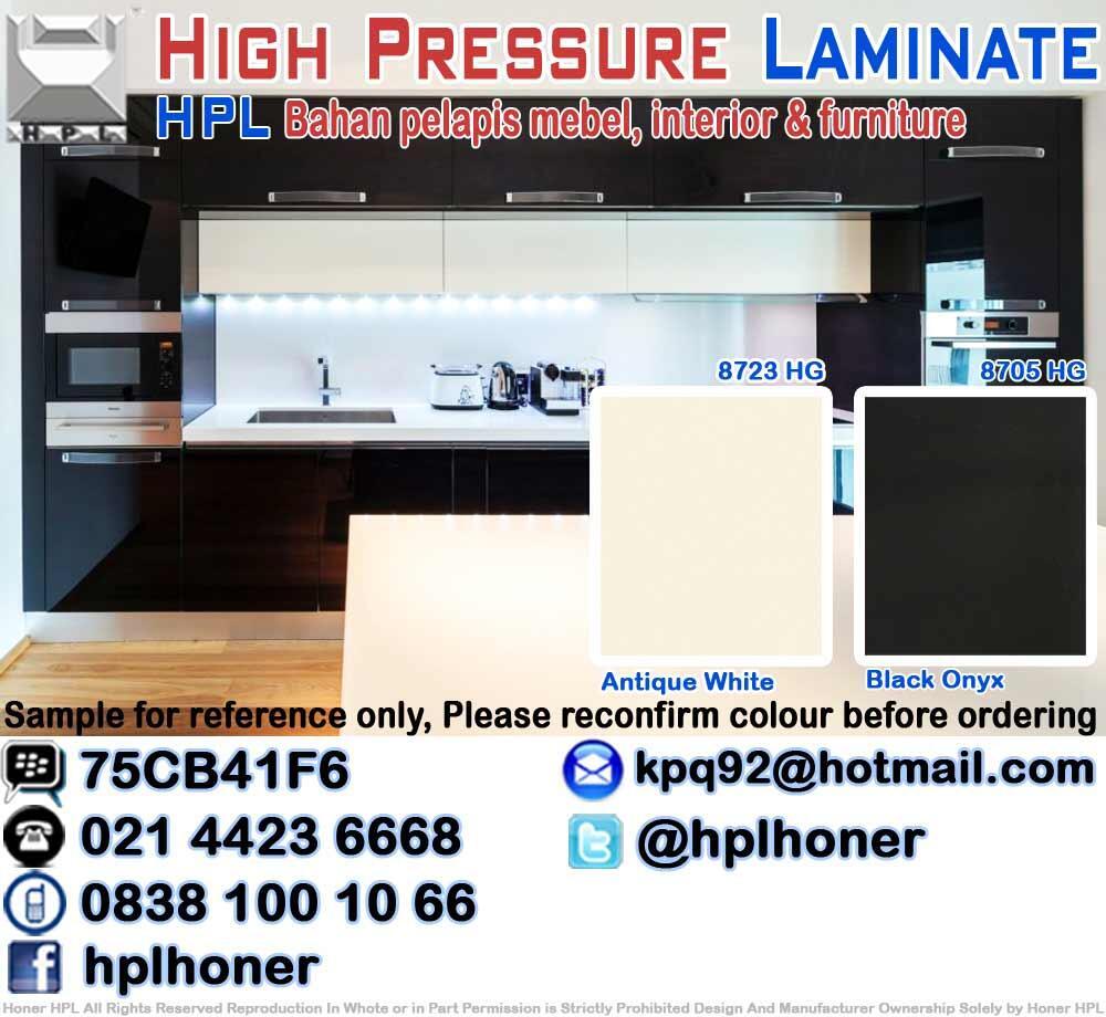 Minimalist design kitchen set interior mebel furniture hpl formika