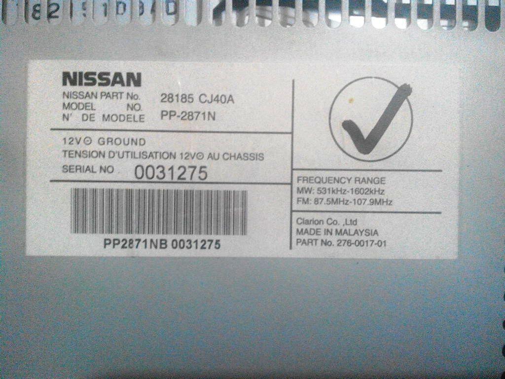 WTS : Jual Clarion Bawaan Nissan Grand Livina ( OEM )