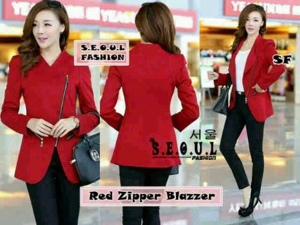 Red Zipper Blazer (termasuk inner)