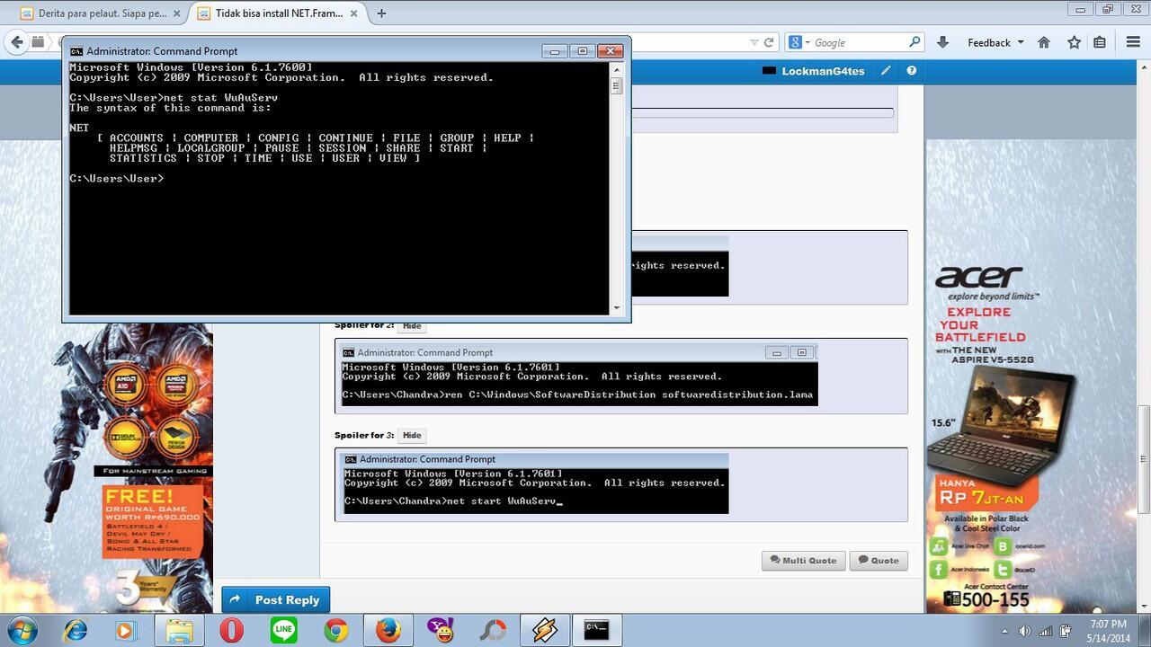Tidak bisa install NET Framework dan Masalah DirectX 3D   KASKUS