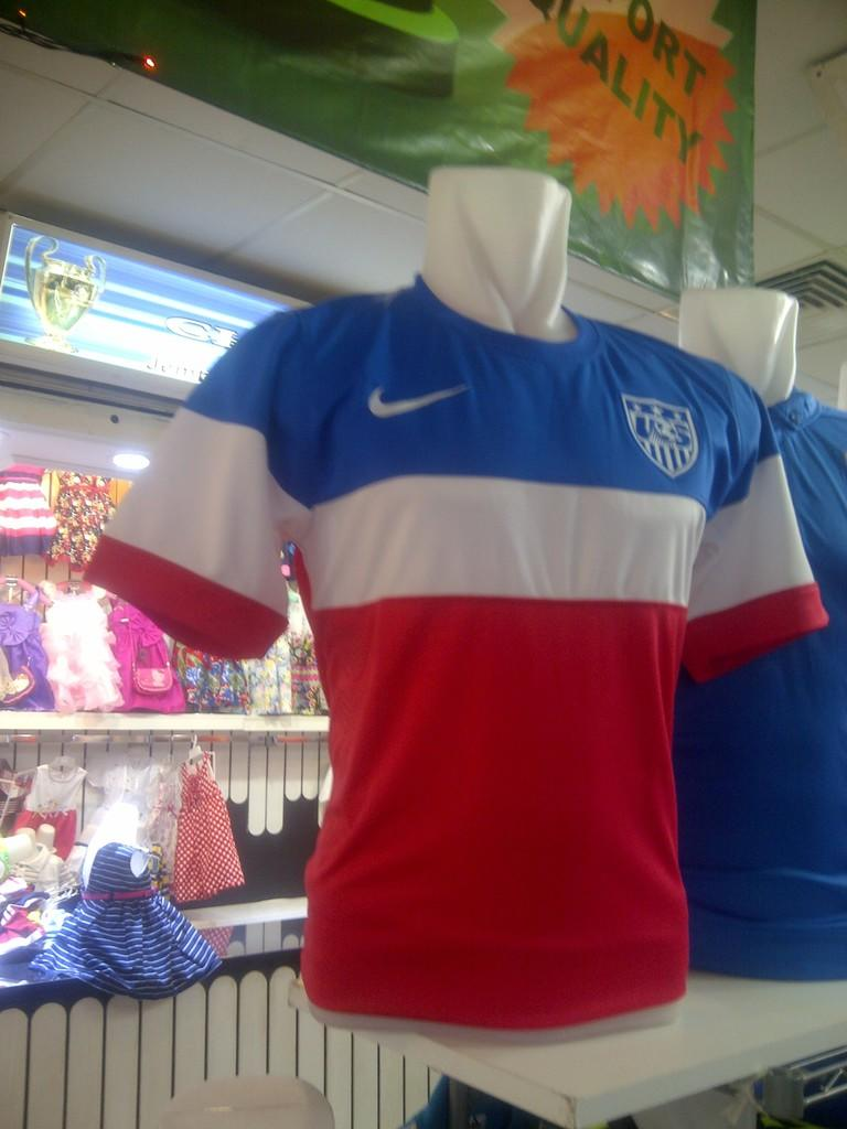 jersey amerika home and away for world cup 2014