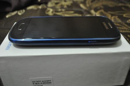 Samsung Galaxy S3 Mini GT-18190 Pebble Blue Mulus Garansi Jogja
