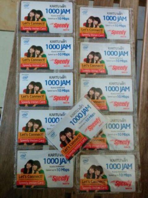 WTS ► Kartu Wifi Speedy Instan Card 1000jam ◄ Kartu Wifi Speedy Instan Card 1000jam