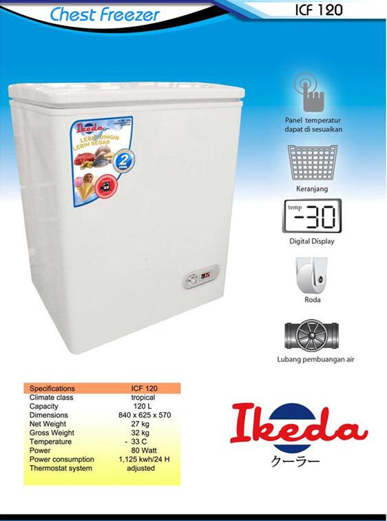 Jual showcase & Chest freezer merk IKEDA