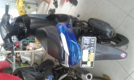 dijual mio sporty biru 2011 bln 9