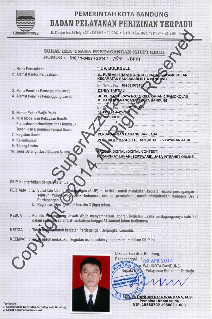 Jasa Pembuatan Dokumen Template utk Lepas Limit/Verified Pay-Pal, eBay dll.