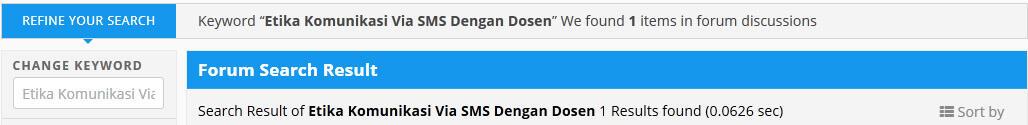Etika Komunikasi Via SMS Dengan Dosen