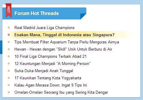 Enak Mana, Tinggal di Indonesia atau Singapura?