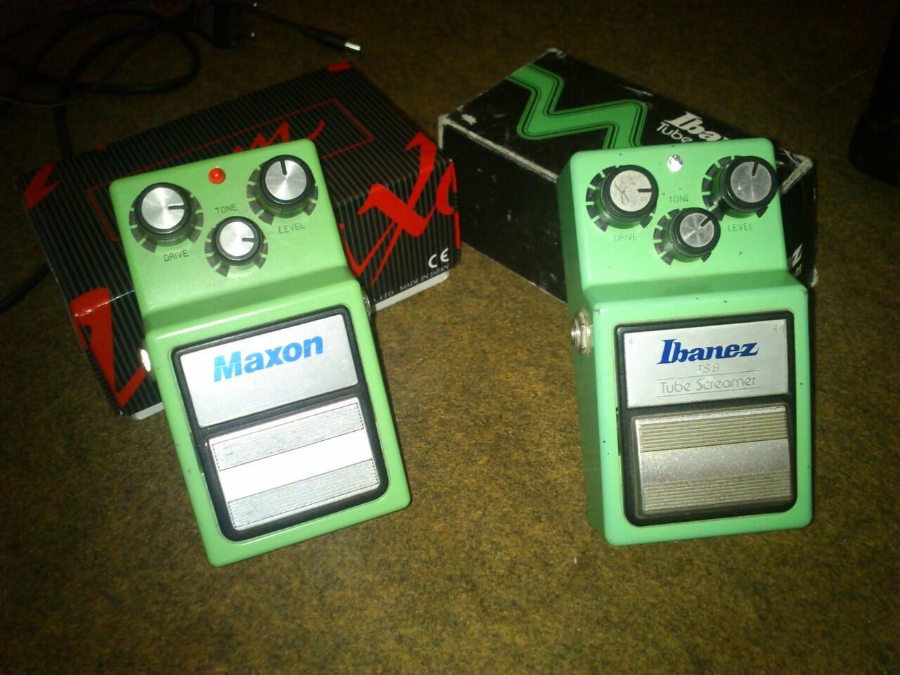 Terjual Maxon OD9 & Ibanez TS9