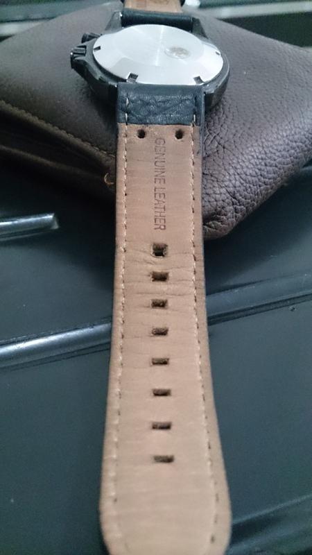 Genuine Leather Strap black 22mm ex. Expedition