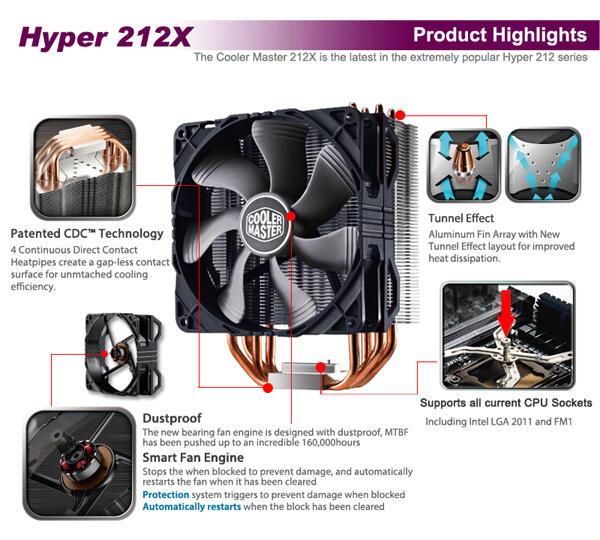 HSF CPU Cooler Master 212x