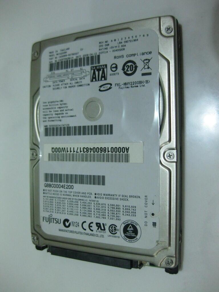 Harddisk Laptop Fujitsu 200GB