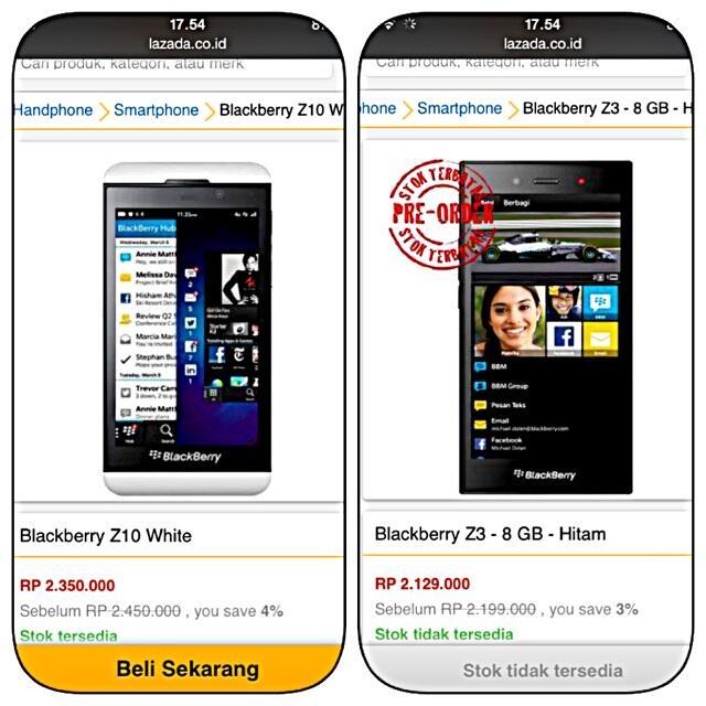 BlackBerry Z3 Jakarta, Smartphone Murah Dari BlackBerry (Support Android Apps)