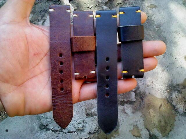 (PART 22) Leather Strap Vintage uk 18/20/22/24mm. ada 25 pieces...murahhh