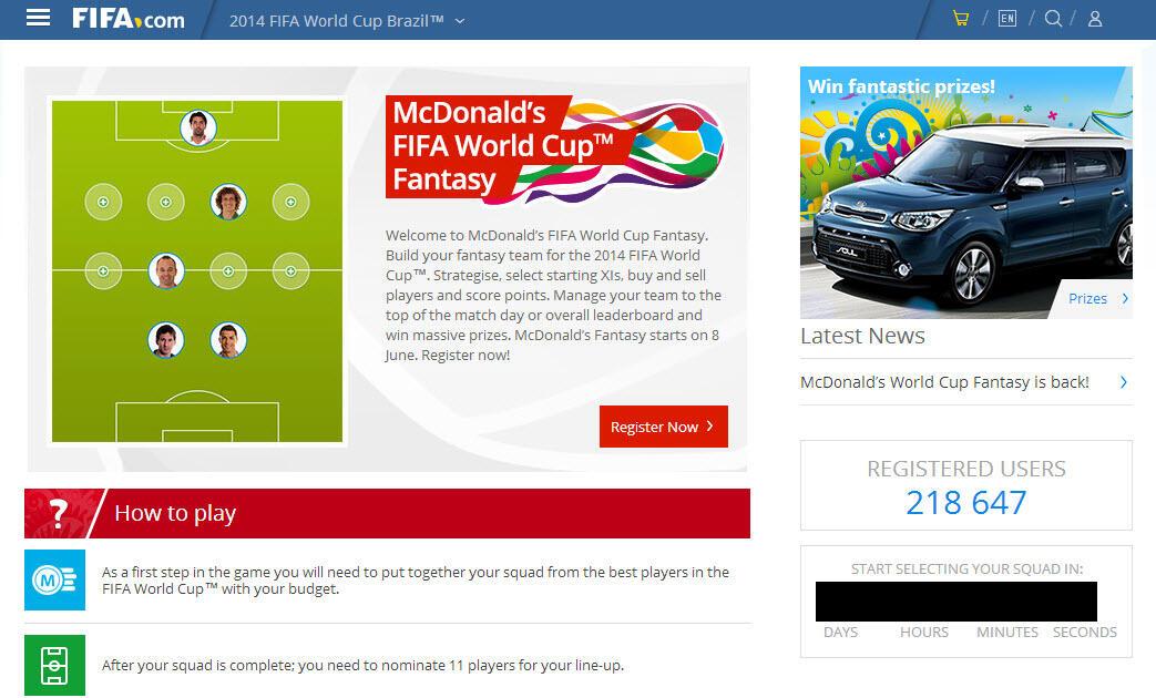 [Official] McDonald's FIFA World Cup™ Fantasy