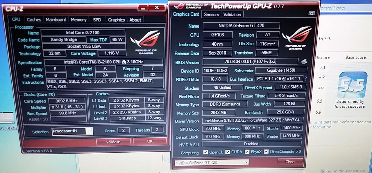 CPU i3 2100 + hdd black 500g ,dll. Siap Pakai Murah Bandung