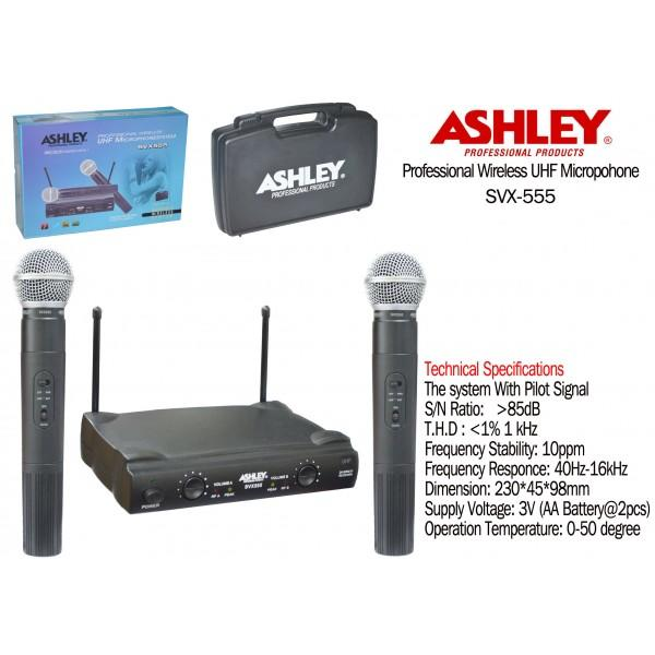 """Jual Mic/Microphone,Cable/Wireless """"ASHLEY"""" USA (For :Vokal ), NEW."""
