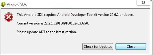 (Ask) Setelah Update SDK di Eclipse malah gak bisa di pake buat project.