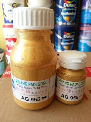 [JUAL] Cat Emas Pinang Padi / Bron Mas Water Base / Gold Paint