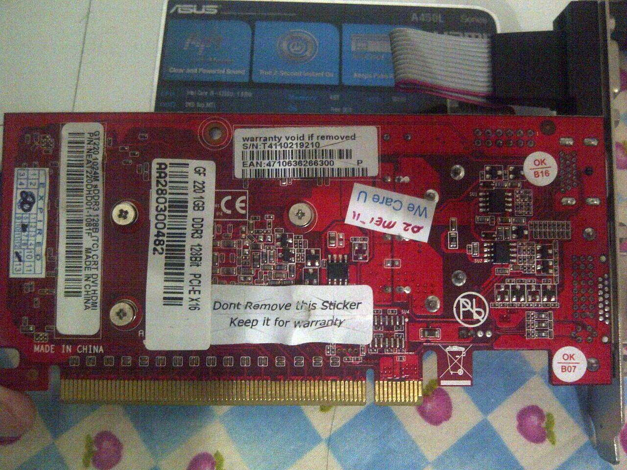 Terjual Jual Vga Digital Alliance Da Geforce Gt 220 1gb Ddr3 128 Card Gt220 Bit Second