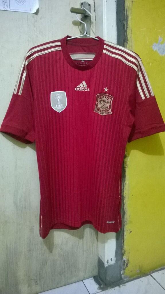 Jersey SPANYOL Home FIFA World Cup 2014 ORIGINAL 100% ADIDAS NEW MURAH BGT!!! Size S