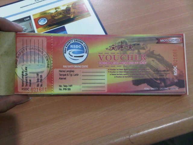 wajib membeli voucher safety riding di pekanbaru untuk setiap pembelian kendaraan
