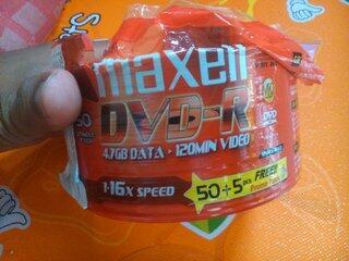 Jual DVD-R Maxell *kelebihan beli nya