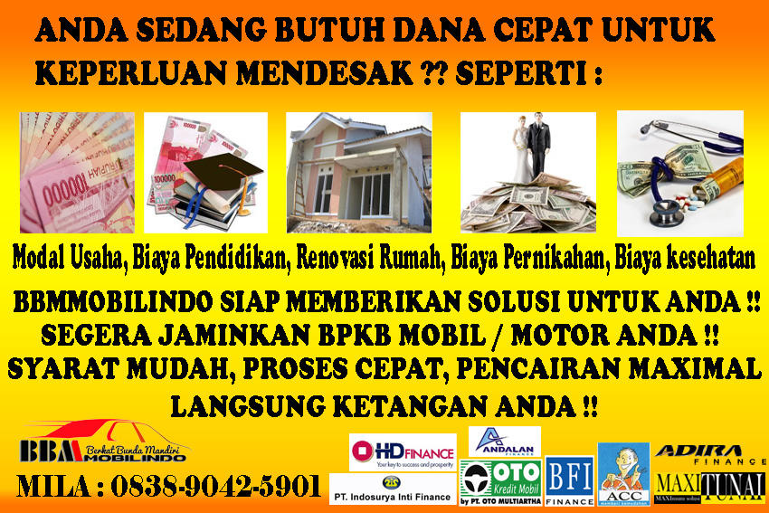 AGUNAN BPKB MOTOR / BPKB MOBIL SEBAGAI JAMINAN