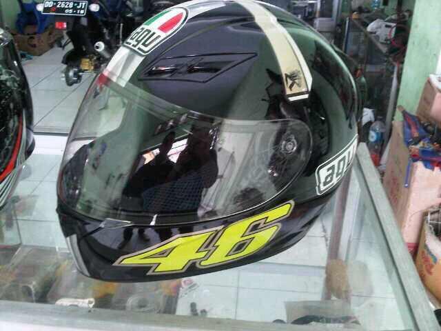 Jual helm fullface agv k3 dan nolan n63 mulus