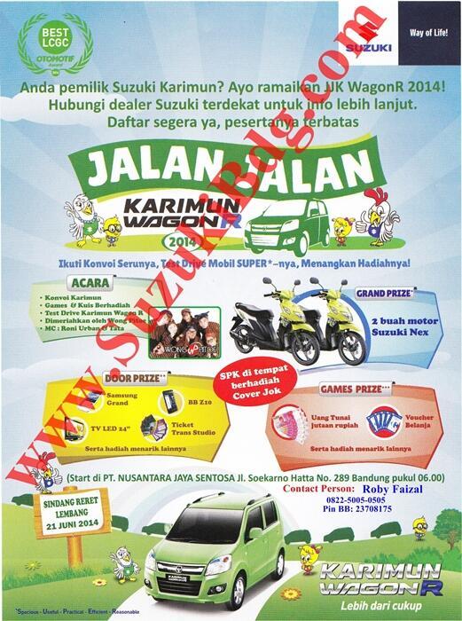 PENDAFTARAN Jalan Jalan Karimun Wagon R 2014 Di Bandung 21 Juni 2014