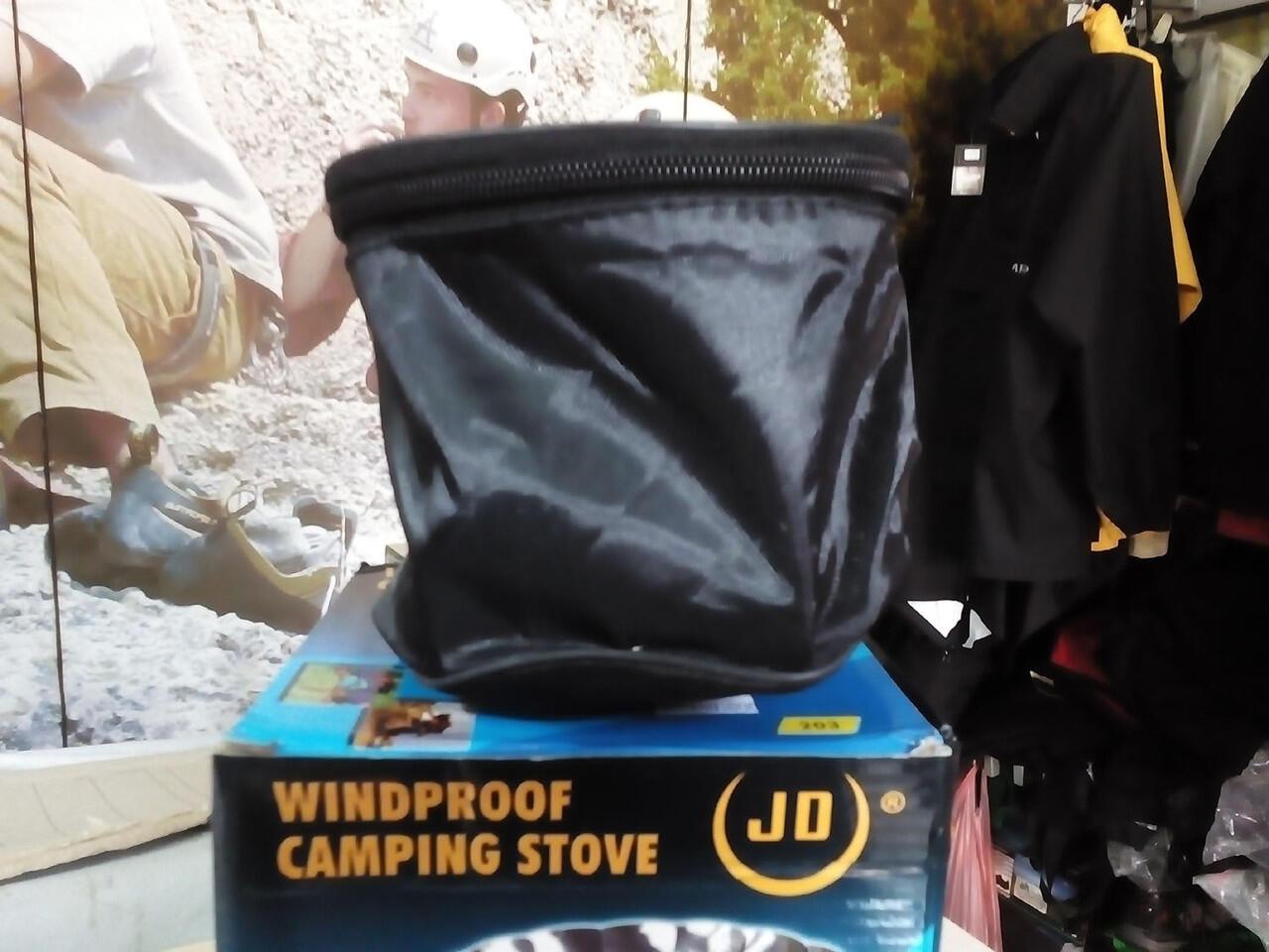 Terjual Toko Doglos Kompor Lipet Mini Windproof Outdoor Camping Stove Lapang Portable Nesting Veples Botol Tni