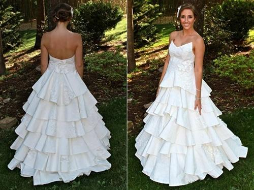 Gaun-Gaun Pernikahan Cantik Dan Mempesona Ini Ternyata Dibuat Hanya Dari Tisu Toilet!