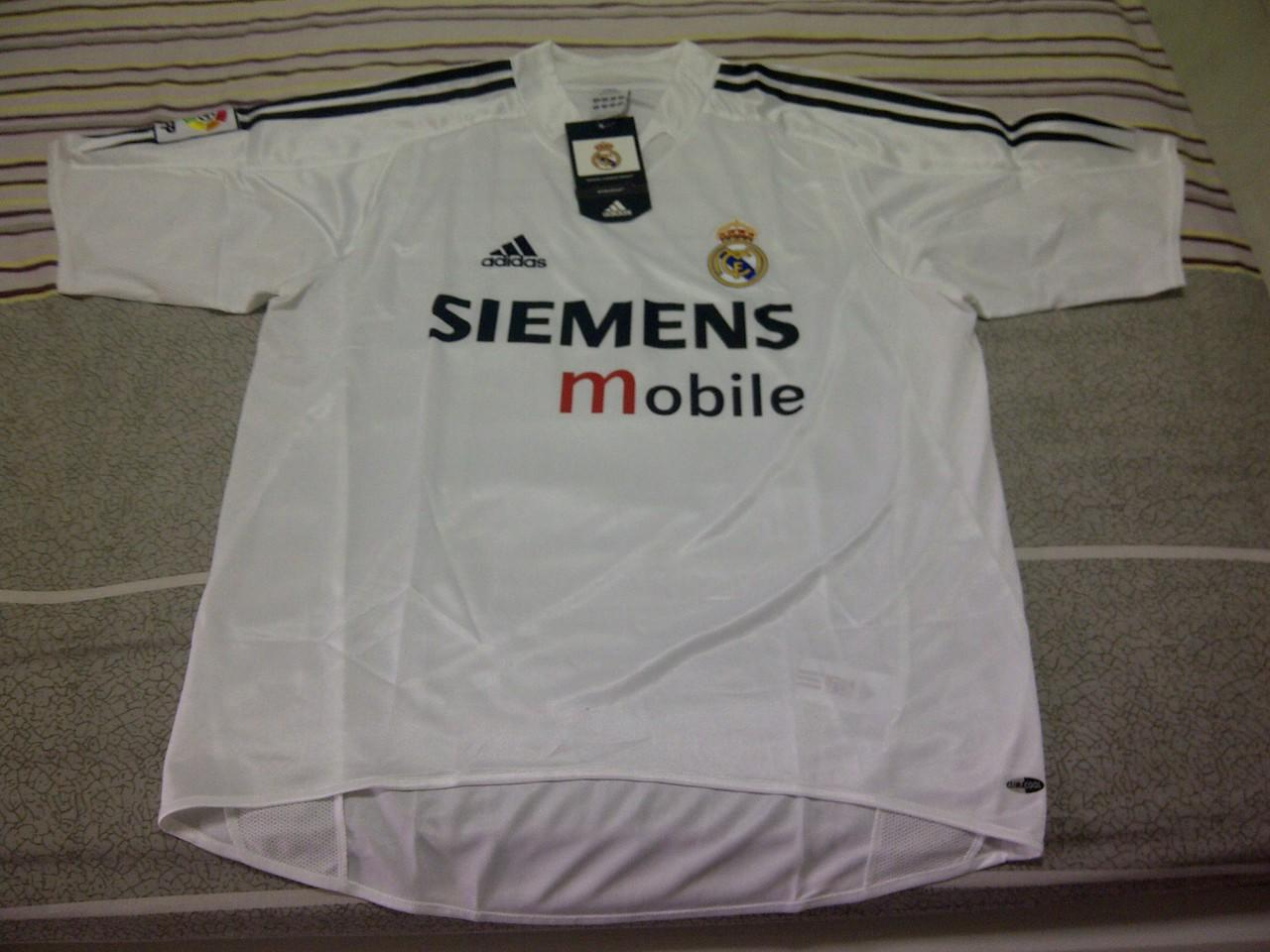 original jersey real madrid home 04/05 bnwt