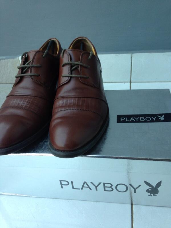 Terjual Jual sepatu pantofel (formal) Playboy coklat Original  26e321c74a