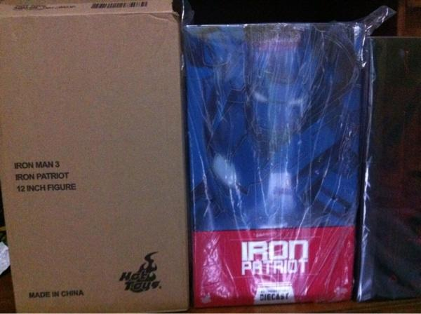 [nonkronk] WTS Hot Toys Ironman 3 Iron Patriot Diecast MISB with Brown Box