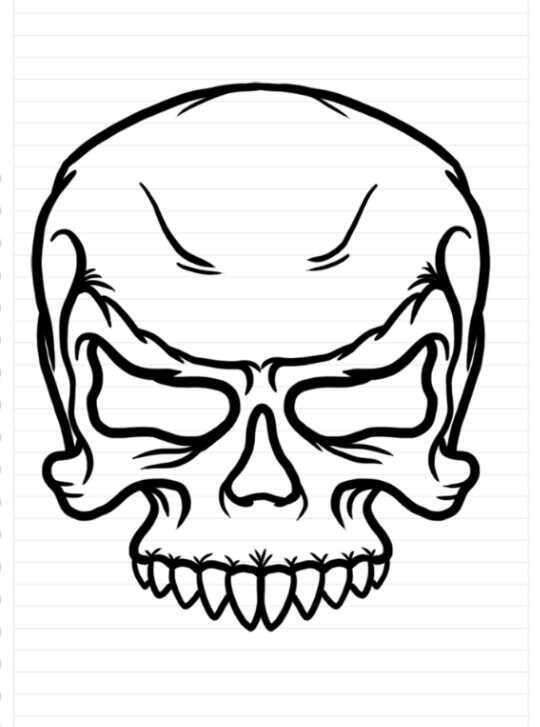 Cara Mudah Menggambar Karakter Tengkorak Kaskus