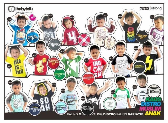 Kaos Anak Muslim BabyTofu | RESELLER HARGA BEDA!!! :D