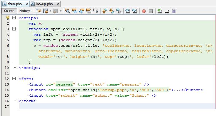 [share] cara membuat lookup tabel php javascript