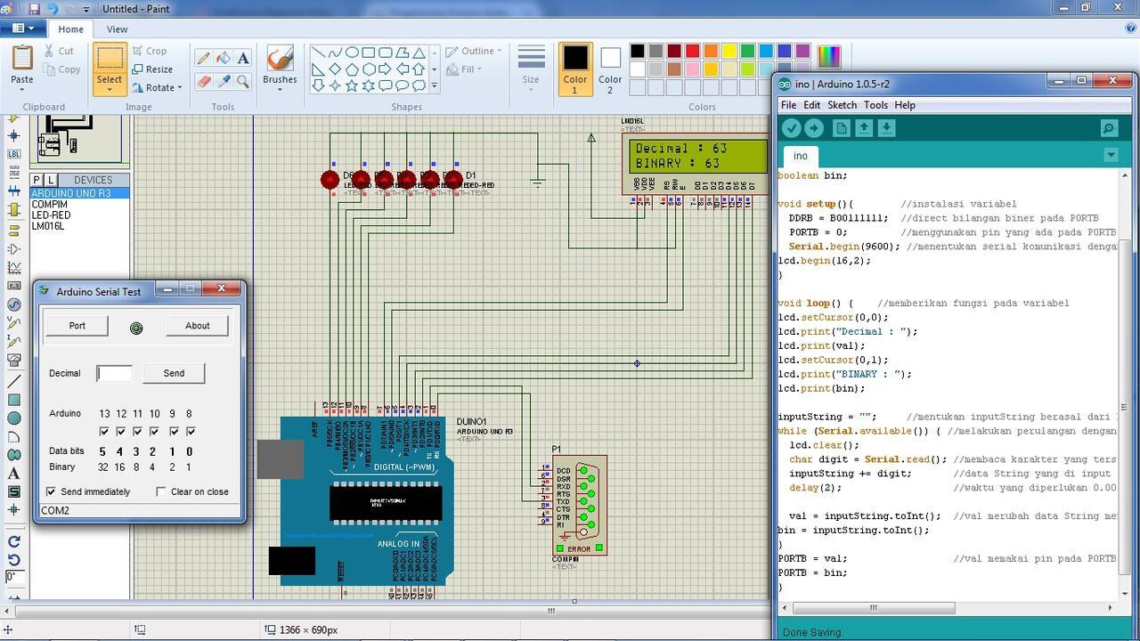 [ASK] CARA nampilin bilangan binnary di LCD dengan program mikrokontroler/Arduino UNO
