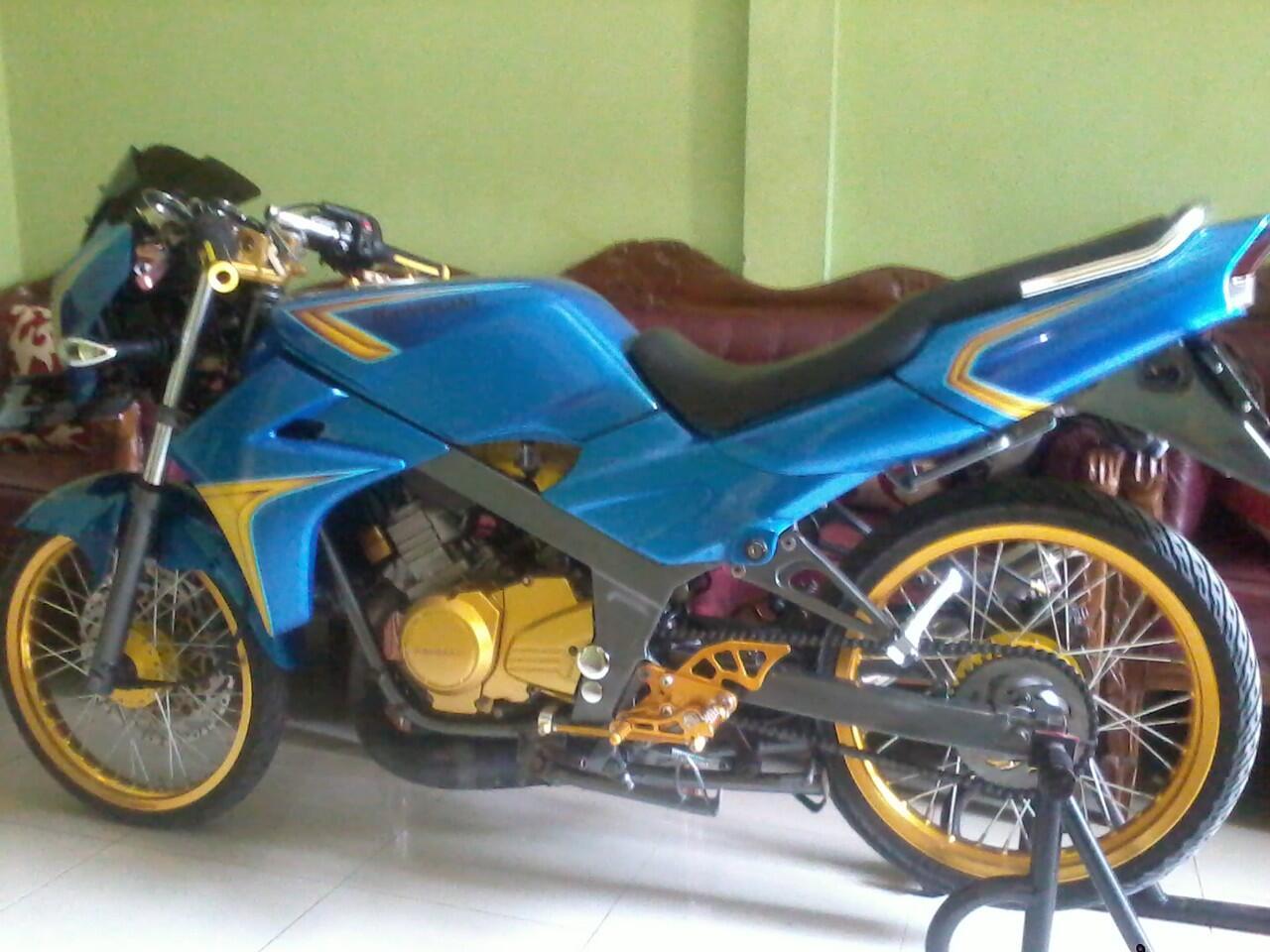 WTS Ninja R tahun 2001 warna biru, air brush