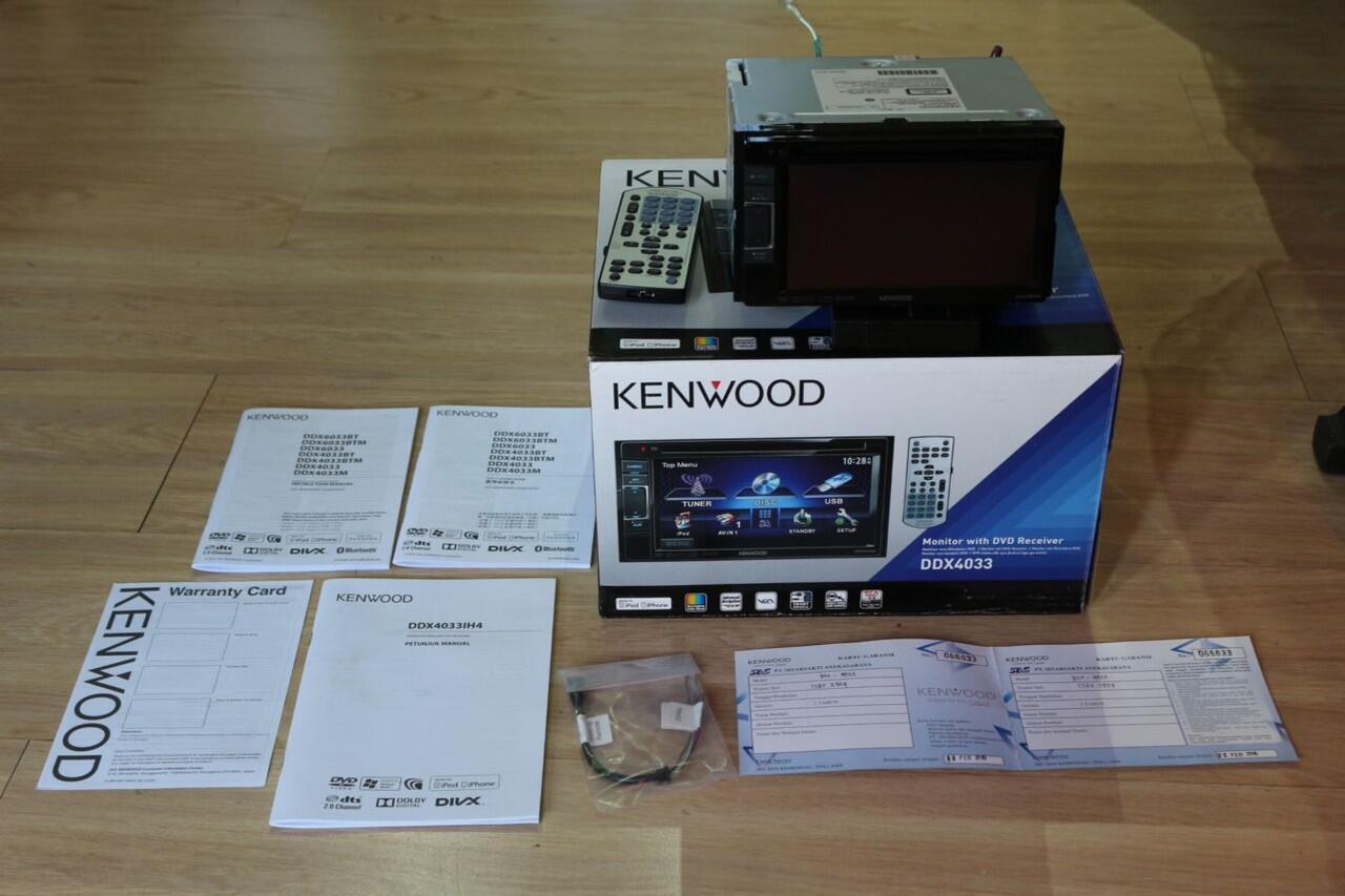 WTS Kenwood 2Din DDX4033 Baru 4 bulan, Masih Garansi!!!