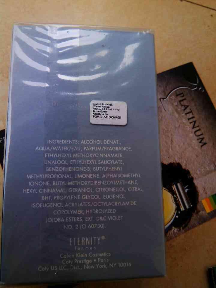 Parfum Original Calvin Klein Eternity Aqua Pour Homme